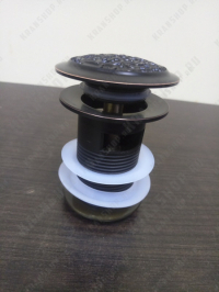 Донный клапан для раковины Lemark Jasmine LM6680ORB Black Bronze