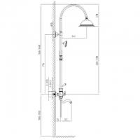 Душевая система Adelia SX-6010/02 Antique