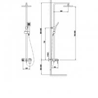 Душевая система TIMO Selene SX-1030 Chrome