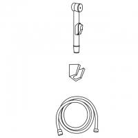 Гигиеническая лейка в наборе Veragio KIT VR.KIT-2232.CR