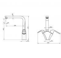 Смеситель для кухни под фильтр Elghansa KITCHEN Pure Water 56A5976 Chrome