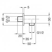 Подключение для шланга Migliore Ricambi ML.RIC-30.255.CR