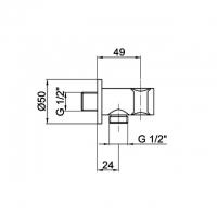 Подключение для шланга Webert Comfort AC0478980 Розовое золото
