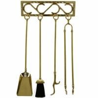 Каминный набор настенный Stilars 1.201 Gold