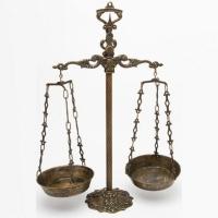 Весы с чашами Stilars 131144 Bronze