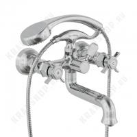 Двухрычажный смеситель для ванны с душем Bennberg 521222 (хром)