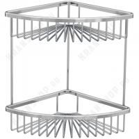 Полка-решетка двойная угловая Bennberg BA 23-2 Хром