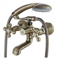 Двухрычажный смеситель для ванны с душем KorDi KD 2170-F04 bronze