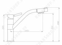 Смеситель для кухни под фильтр Bennberg 20F5055 Песочный