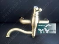 Однорычажный смеситель для ванны с душем Bennberg 130717 (бронза)