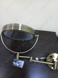 Зеркало увеличительное с подсветкой Boheme Medici 501 бронза