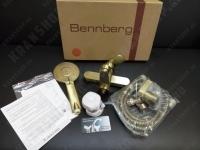Однорычажный смеситель для ванны с душем Bennberg 130212 (золото)