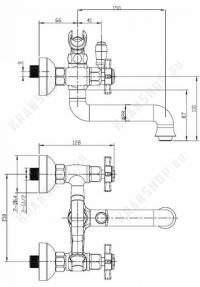 Cмеситель для ванны Bennberg 521121 (бронза)