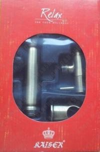 Гигиеническая лейка в наборе с краном Kaiser SH-332 Rel/An Bronze