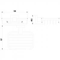 Мыльница TIMO Selene 10025/00 Chrome