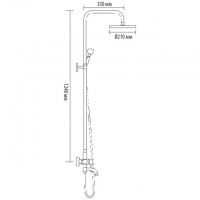 Душевая система Bronze de Luxe 10120