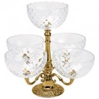 Менажница с пятью чашами Stilars 01989 Gold