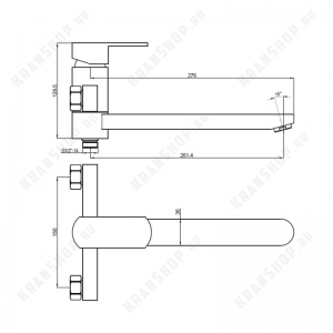 Cмеситель для ванны Bennberg 130212-02 (бронза)
